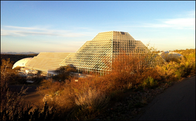 The University of Arizona's Biosphere 2 earth systems research facility in Oracle, AZ. Credit: flickr.com/photos/tim846 (Tim Bailey, CC Attribution)