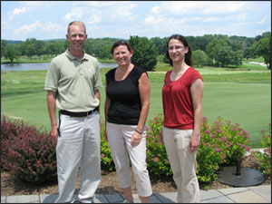 MGTC Superintendent Chris Boyle (left) with GSWA Executive Director Sally Rubin (center) and GSWA Director of Water Quality Programs Laura Kelm (right).