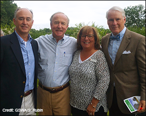 Dignitaries attending the ribbon-cutting ceremony: (l to r) Kevin Sullivan, Mayor of Chatham Township; Congressman Rodney Frelinghuysen; Freeholder Director Kathryn DeFillippo; Nicolas Platt, Mayor of Harding Township. Photo by Sally Rubin.