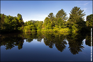 Pond at Giralda Farms. Photo by Brett Cole courtesy of the Open Space Institute